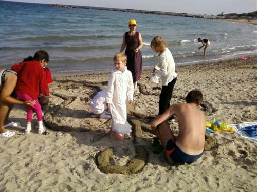 Sa facem un fluture de nisip